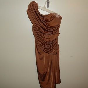 Boston Proper One Shoulder Formal Dress Sz.  4 EUC